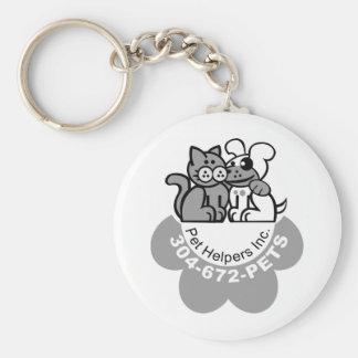 Pet Helper's Merchandise B&W Keychain