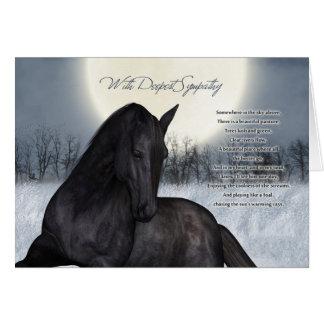 Pet Horse Sympathy Card, Loss Of Pet Horse Card