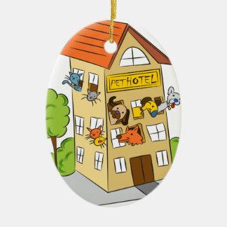 Pet Hotel Cartoon Ceramic Ornament