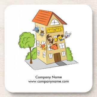 Pet Hotel Cartoon Coaster
