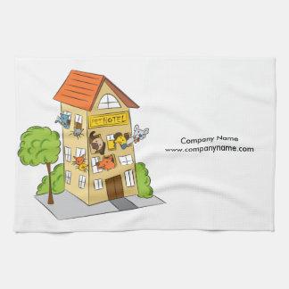 Pet Hotel Cartoon Hand Towel