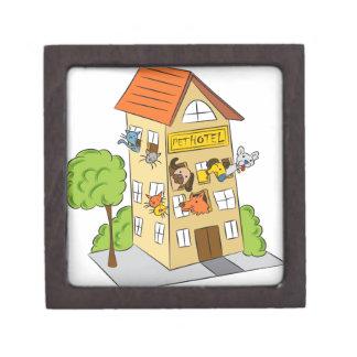 Pet Hotel Cartoon Jewelry Box