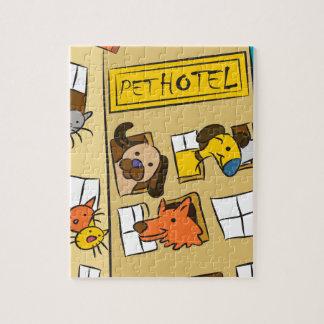 Pet Hotel Cartoon Jigsaw Puzzle