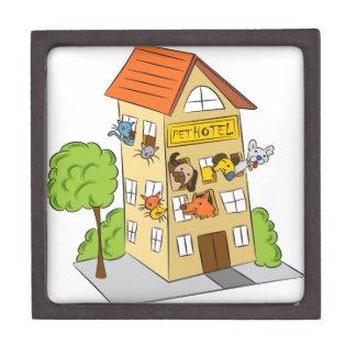 Pet Hotel Cartoon Keepsake Box