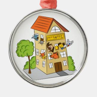 Pet Hotel Cartoon Metal Ornament