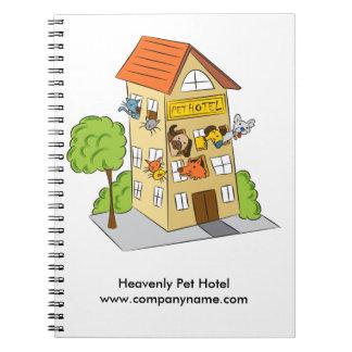 Pet Hotel Cartoon Notebook