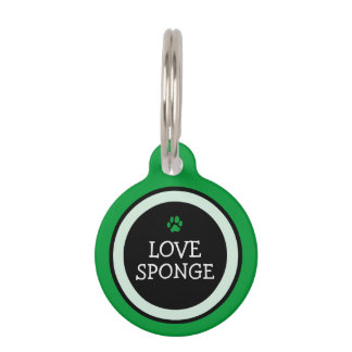 Pet ID Tag - Grass Green & Black - Love Sponge