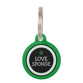 Pet ID Tag - Grass Green & Black - Love Sponge