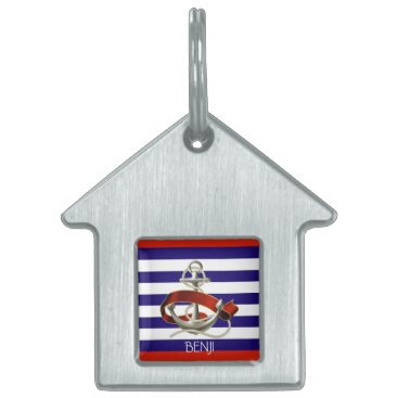 Beach Themed Pet ID Tag - Sailing Theme - Anchor