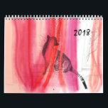 "Pet illustration wall calendar<br><div class=""desc"">Original illustrations of pets (dogs,  cats,  hedgehog) with original haikus.</div>"