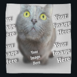 """Pet Image Template Bandana<br><div class=""""desc"""">Prouder than a dog with two tails. Differentiate it as your delightful project with this Stress-free product template. Create your own fashionable and sophisticated product using your custom artwork or simply place your digital image or personal photograph here. Make it brilliant, pastoral, elegant, antiquated, retro or any other style you...</div>"""