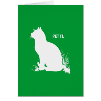 PET IT - WHITE -.png Greeting Card