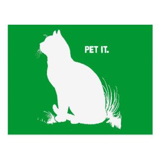 PET IT - WHITE -.png Postcard