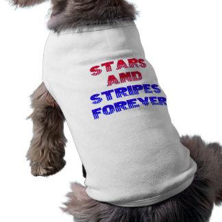 ~Pet Jacket~ de las barras y estrellas Playera Sin Mangas Para Perro