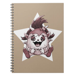 PET JOLY BROWN MONSTER NOTE book