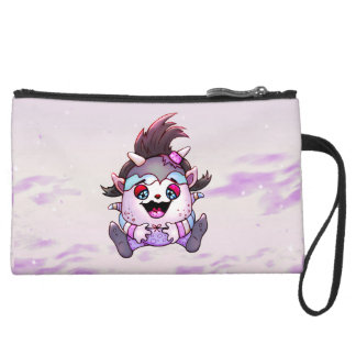 PET JOLY MONSTER Sueded Mini Clutch