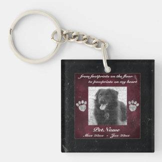 Pet Keepsake Memorial Tribute Marble Effect Keychain