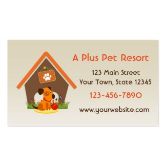Pet Kennel or Boarding Service Business Card