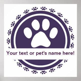pet label blue poster