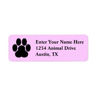 Pet Labels - Cute Paw print