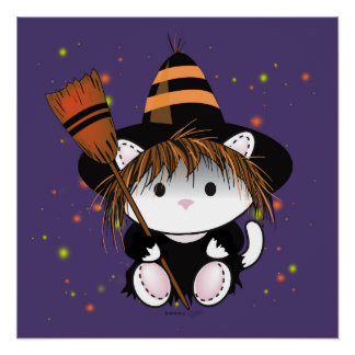 PET LITTLE WITCH HALLOWEEN PERFECT POSTER