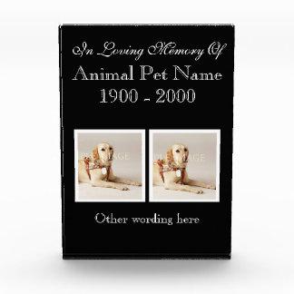 Pet loss photo memories PERSONALIZE Award