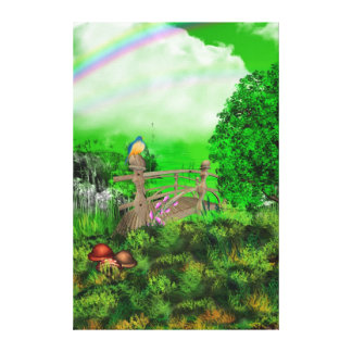 Pet Loss Rainbow Bridge Stretched Canvas Print