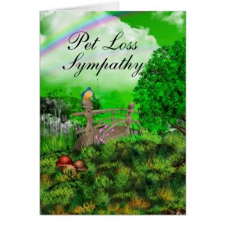 Pet Loss Sympathy Greeting Cards