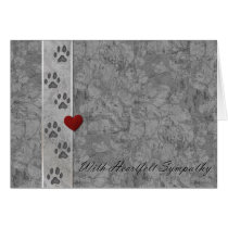 Pet loss Sympathy Card