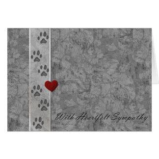 Pet loss Sympathy Card