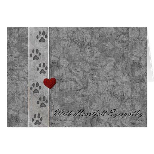 Pet loss Sympathy Greeting Card