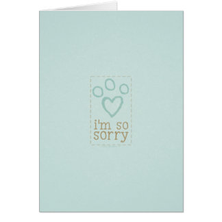 Pet Loss Sympathy From Single Blue Card