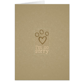 Pet Loss Sympathy from single Neutral Greeting Card