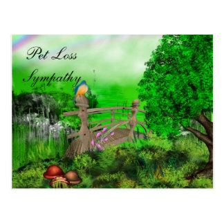 Pet Loss Sympathy Postcard