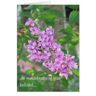 Pet Loss Sympathy Series - Lilacs Card
