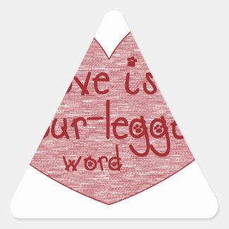 Pet Love Triangle Sticker