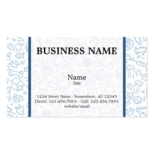 Pet Lover Business Card - Customized