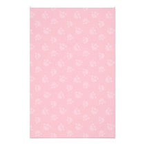 Pet Lover Paw Print Hearts Bubble Gum Stationery