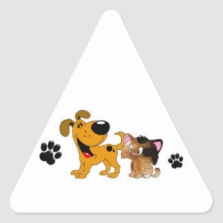 Pet Lovers! Best Friends Triangle Sticker