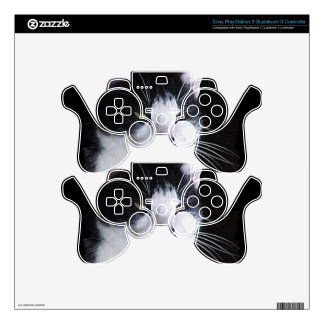 Pet-lovers Black & White Cat on Electronics Skin PS3 Controller Skin