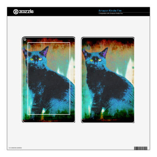 Pet-lovers Cute Cat Designs on Electronics Skin Decal For Kindle Fire