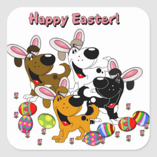 Pet Lovers! Easter Eggs Square Sticker