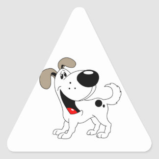 Pet Lovers Pup Triangle Sticker