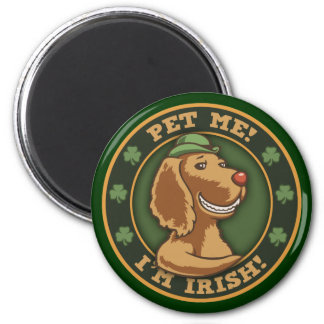 Pet Me! I'm Irish 2 Inch Round Magnet