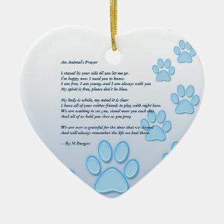 Pet Memorial 2 Sided - Heart Ornament