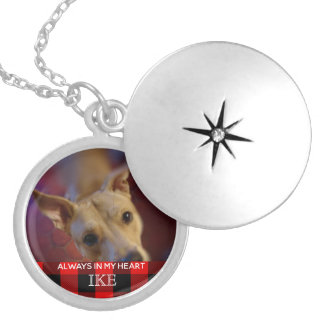 Pet Memorial Always in My Heart | Photo Keepsake Silver Plated Necklace