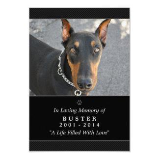 """Pet Memorial Card 3.5""""x5"""" Black - God Saw You Poem"""