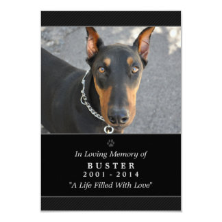 Pet Memorial Card 3.5x5 Black - Do Not Mourn Poem