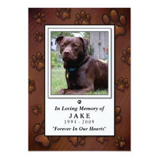 "Pet Memorial Card 5""x7"" - Chocolate Brown Photo"