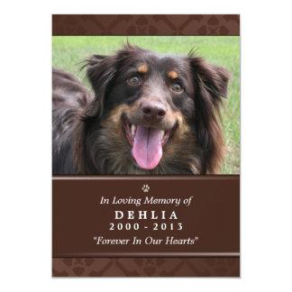 """Pet Memorial Card 5""""x7"""" Dark Brown - Female Pet"""